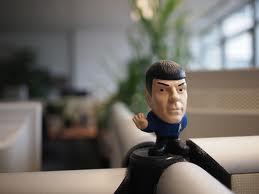 Spock in an office